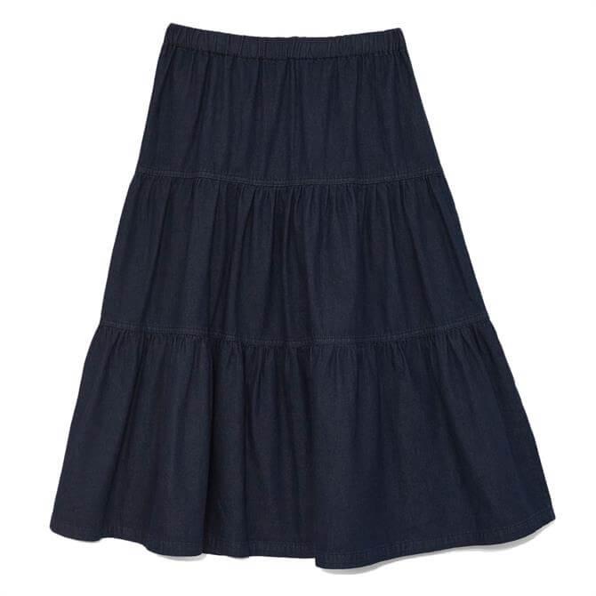White Stuff Mia Tiered Denim Skirt