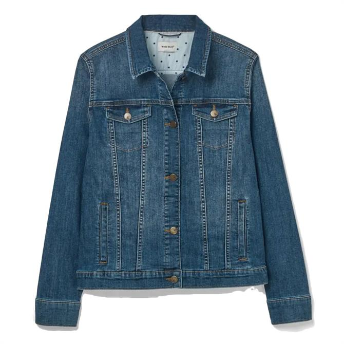 White Stuff Betsy Blue Denim Jacket