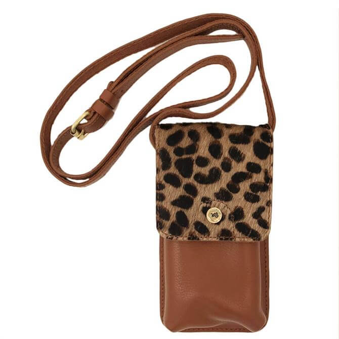 White Stuff Carrie Leather Phone Bag