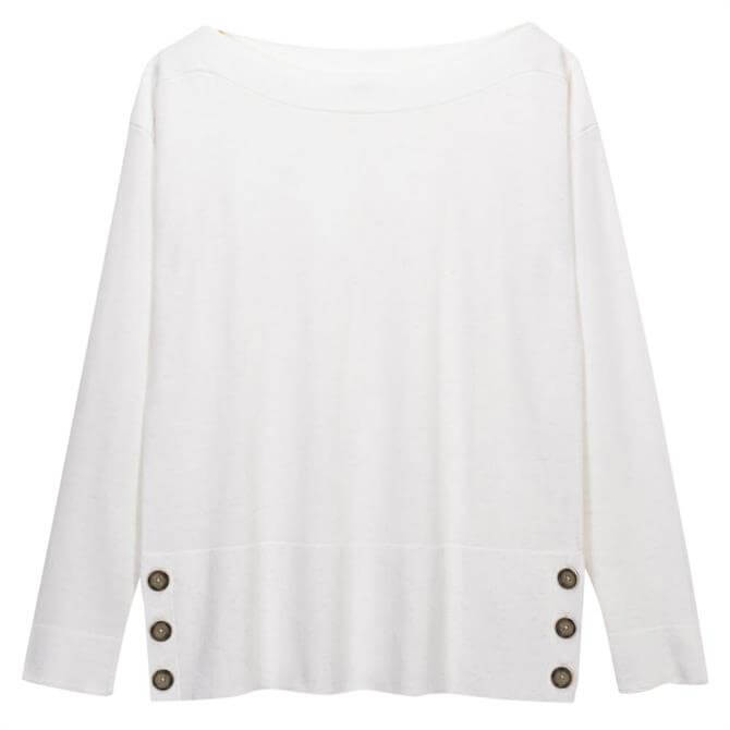 White Stuff Hampton Organic Cotton Button Detail Jumper
