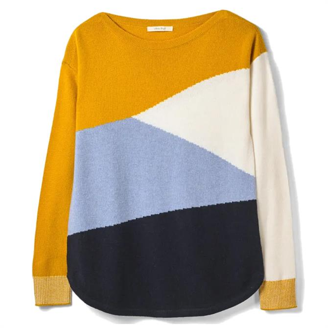 White Stuff Horizon Colourblock Jumper