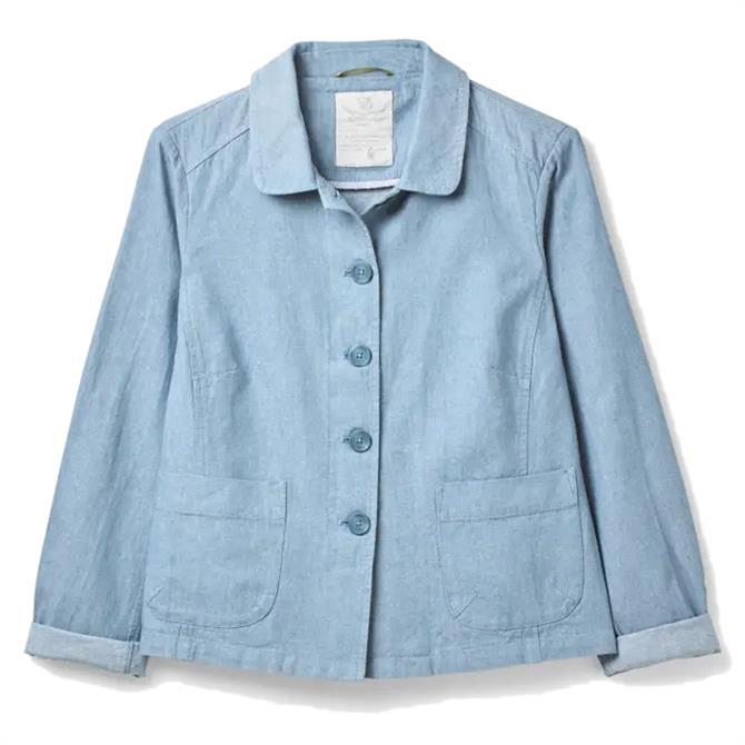 White Stuff Melody Linen Blend Utility Jacket