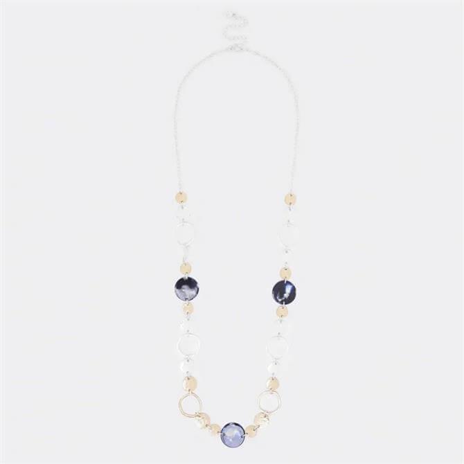 White Stuff Mixed Circle Tortoiseshell Necklace