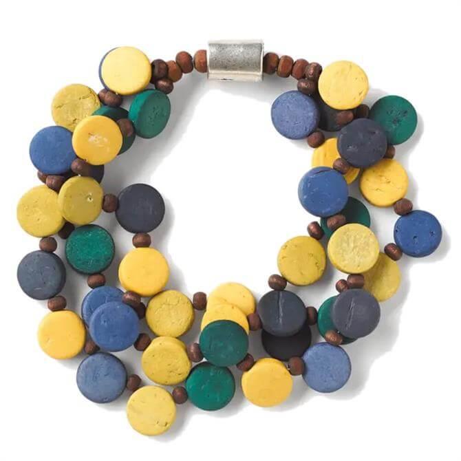 White Stuff Multi Versatile Wooden Beaded Bracelet