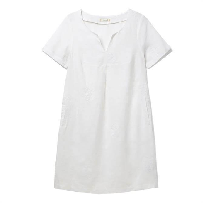 White Stuff Ondine Embroidered Linen Dress