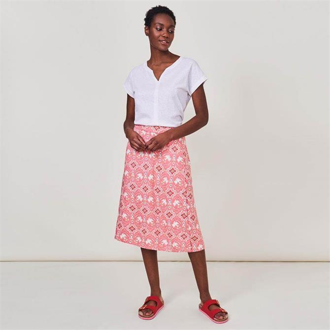 White Stuff Reversible Bird Skirt