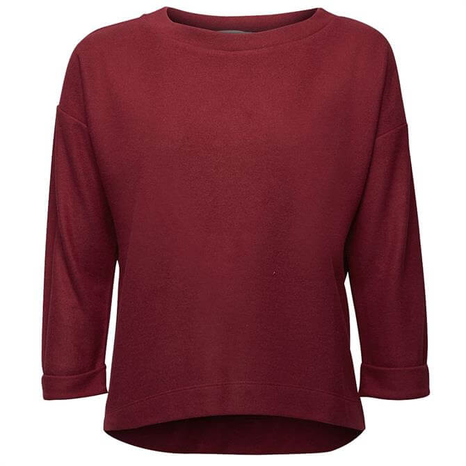 Esprit Short Raglan Sleeve Brushed Jersey Sweatshirt