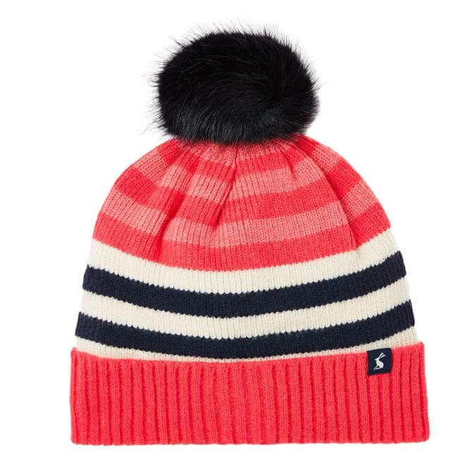 Joules Chillaway Striped Bobble Hat