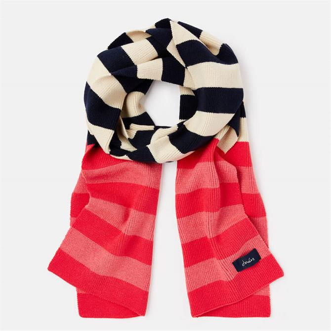 Joules Chillaway Soft Handle Striped Scarf