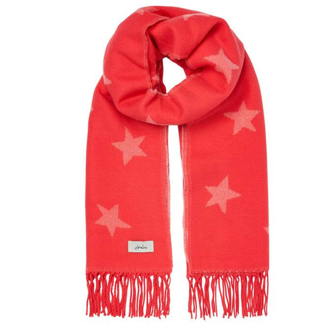 Joules Mardale Woven Star Rectangle Scarf