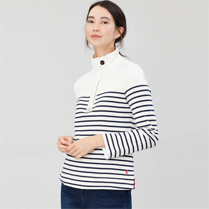 Joules Women's Saunton Striped Cotton Sweatshirt