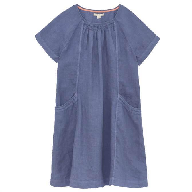 White Stuff Avery Denim Look Linen Dress