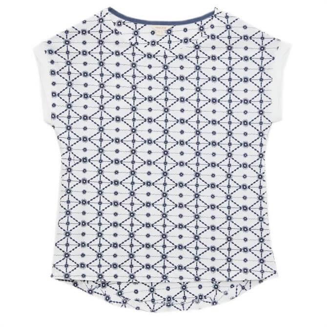 White Stuff Geo Embroidered T-Shirt