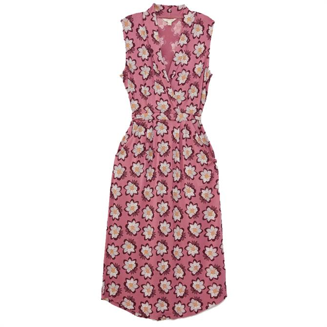White Stuff Isla EcoVero Pink Print Dress