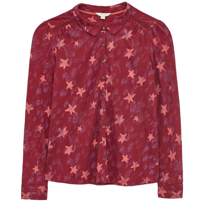 White Stuff Loganberry Star Print Collared Shirt