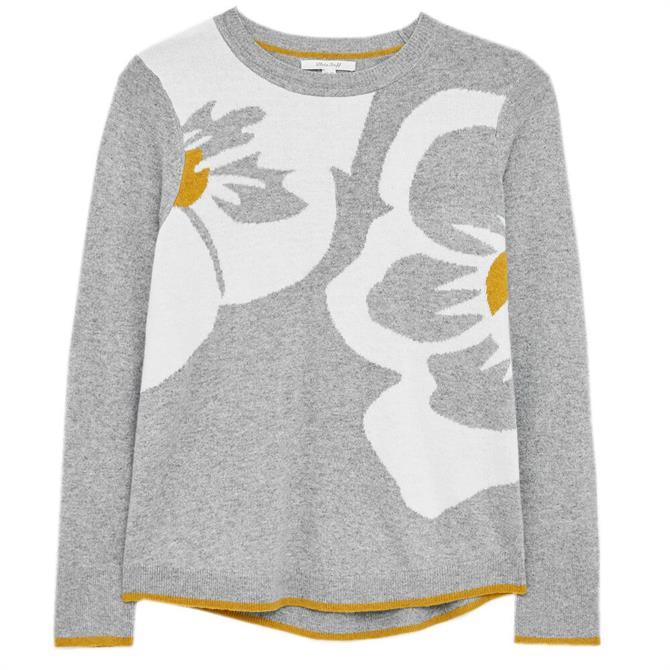 White Stuff Pretty Pansy Motif Sweater
