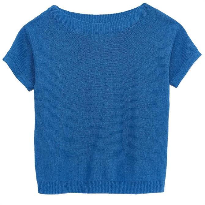White Stuff Rye Tape Short Sleeve Sweater
