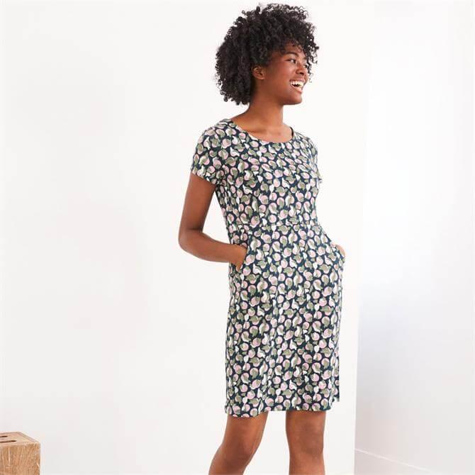 White Stuff Sage Fairtrade Cotton Fruit Print Dress