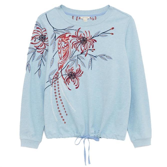 White Stuff Sally Embroidered Sweatshirt