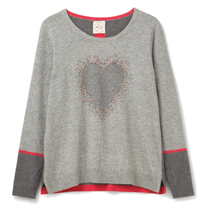 White Stuff Confetti Heart Jumper