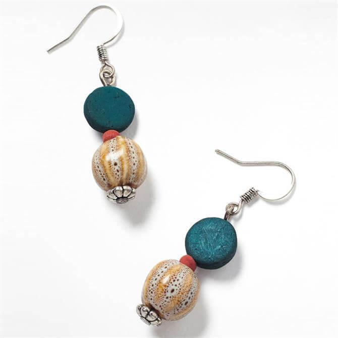 White Stuff Ceramic Mono Bead Earrings