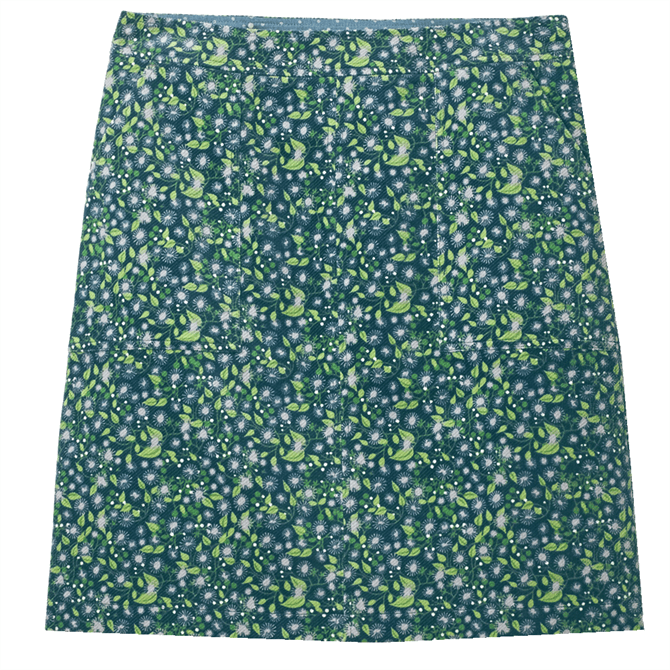 White Stuff Clocktower High Tide Floral Cord Skirt