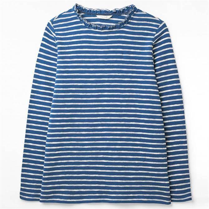 White Stuff Effie Jersey Striped Long Sleeve T-Shirt