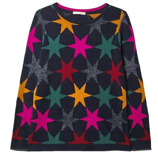 White Stuff Gridlock Star Sweater