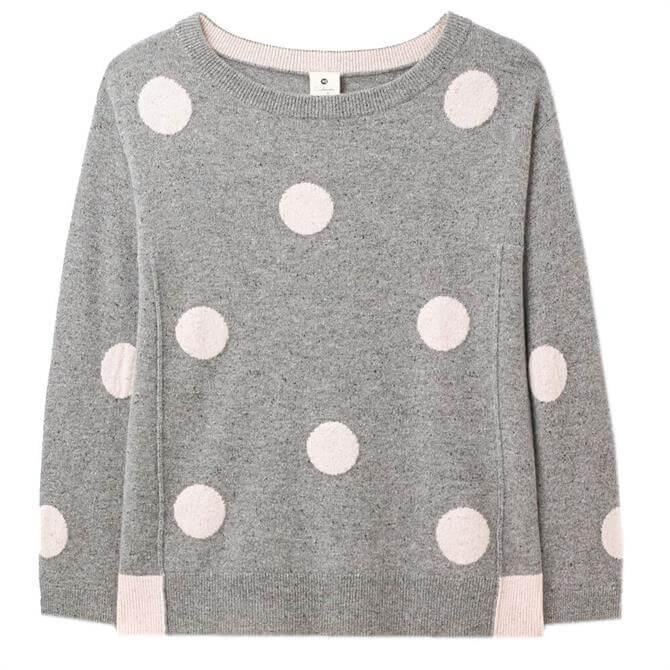 White Stuff Cashmere Pippa Pastel Spot Sweater