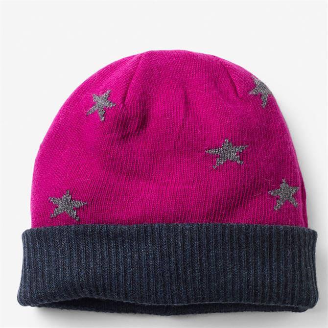 White Stuff Star Wool Blend Reversible Hat