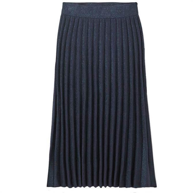 White Stuff Stem Shimmer Knitted Pleated Midi Skirt