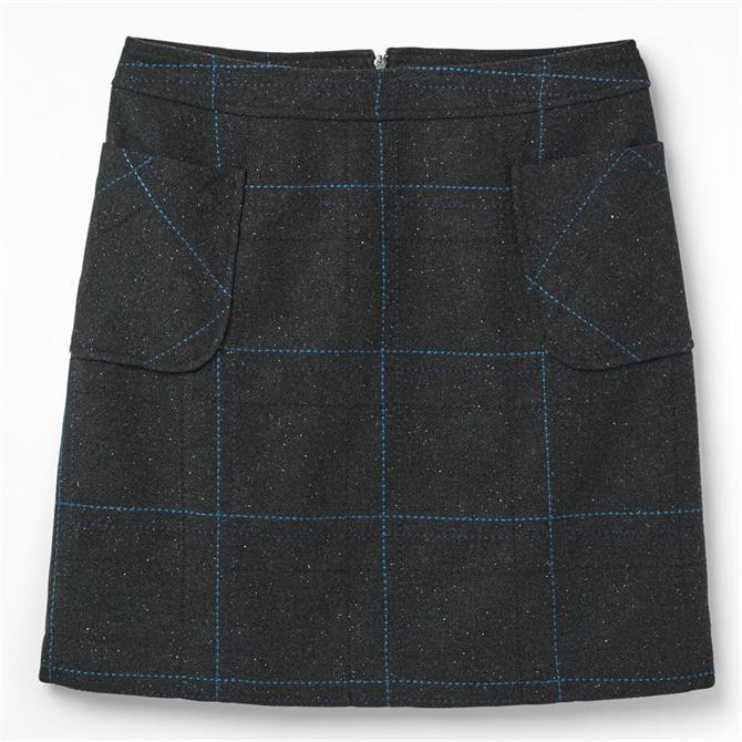 White Stuff Suki Wool Blend Checked Mini Skirt