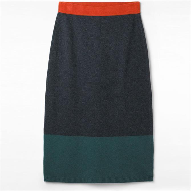 White Stuff Patchwork Knitted Midi Skirt