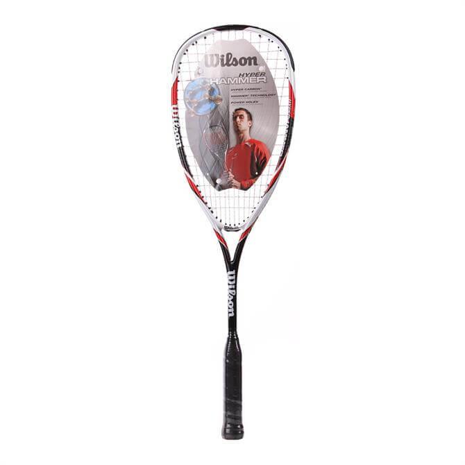 Wilson Hyper Hammer 145 Squash Racket - Red White