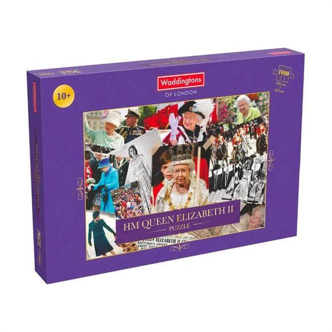 Winning Moves HM Queen Elizabeth II Montage 1000 Piece Jigsaw Puzzle