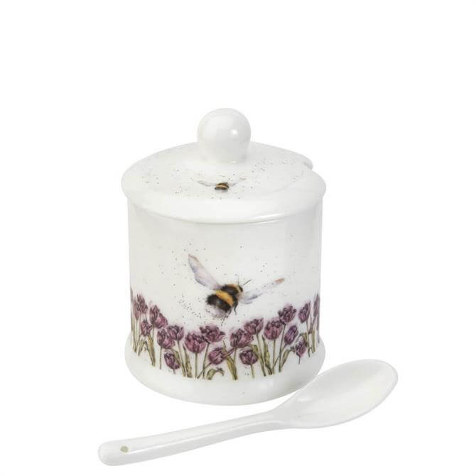 Royal Worcester Wrendale Bumble Bee Conserve Pot and Spoon