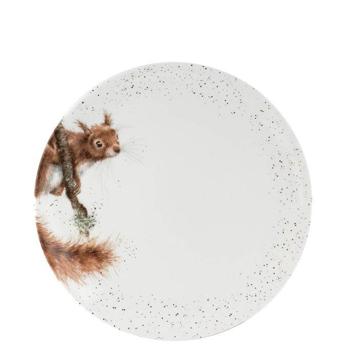 Royal Worcester Wrendale Red Squirrel Coupe Dinner Plate