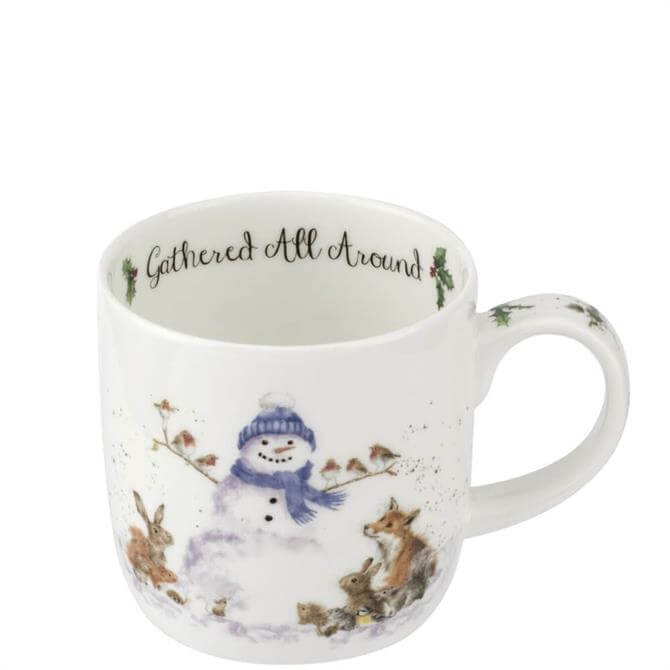 Royal Worcester Wrendale Gathered All Round the Snowman Mug