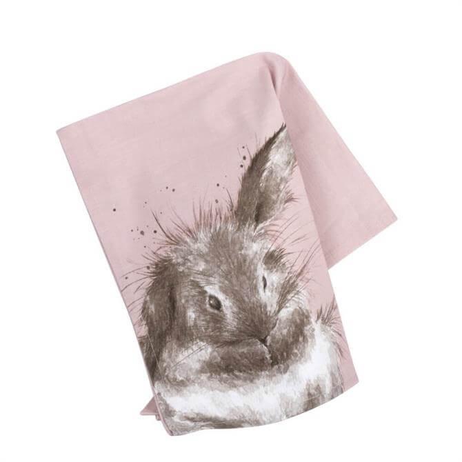 Wrendale Designs Bathtime Rabbit Tea Towel