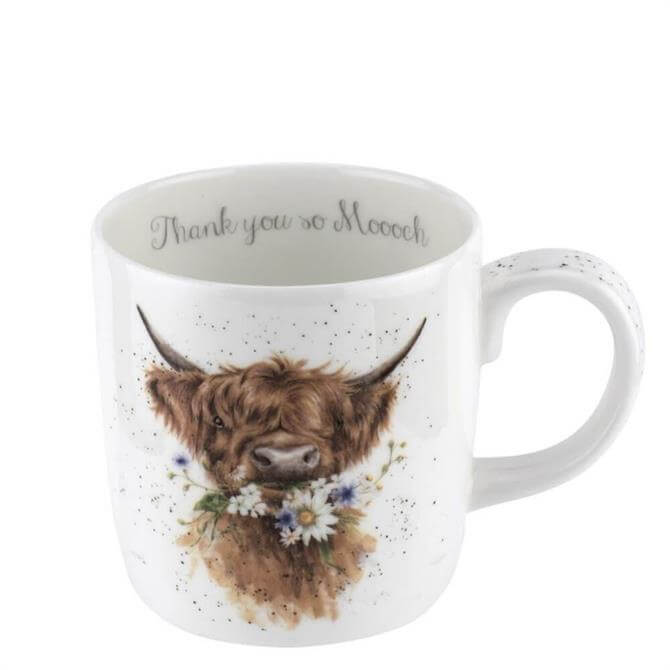 Royal Worchester Wrendale Cow Thank You Mug