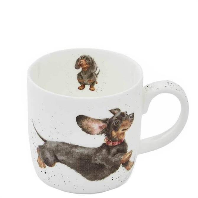 Royal Worchester Wrendale That Friday Feeling Dachshund Mug