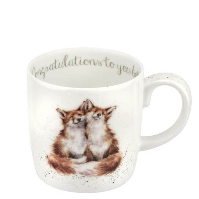 Royal Worchester Wrendale Congratulations To You Both Foxes Mug