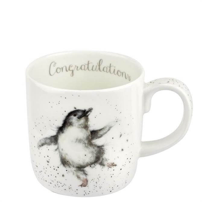 Royal Worchester Wrendale Congratulations Penguin Mug