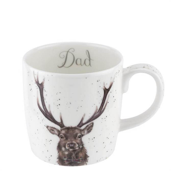 Royal Worchester Wrendale Stag Dad Mug