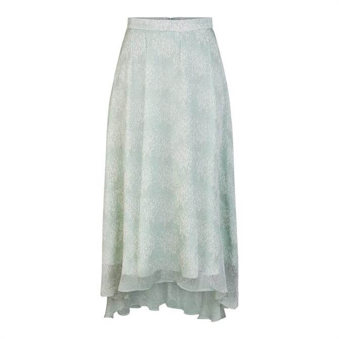 Y.A.S Alice High-Low Patterned Midi Skirt