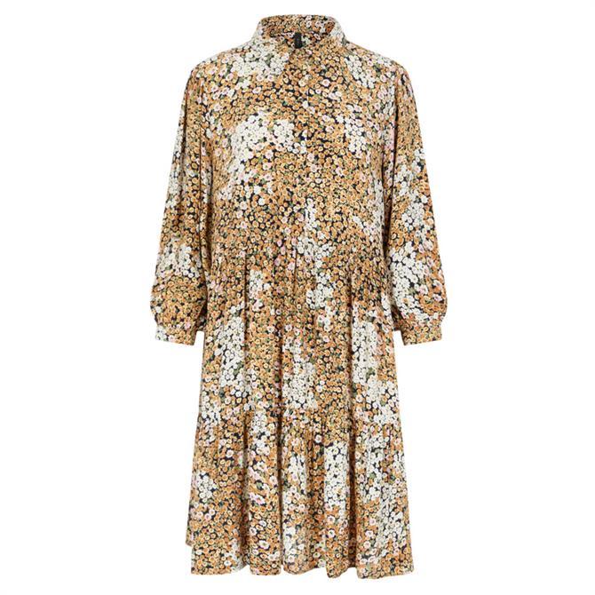 Y.A.S Como Floral Print Tiered Dress