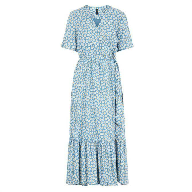 Y.A.S Daisy Print Wrap Maxi Dress