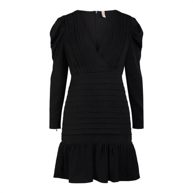 Y.A.S Gina Frill Hem Pleated Mini Dress