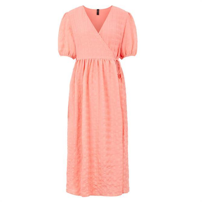 Y.A.S Melba Short Puff Sleeve Midi Dress