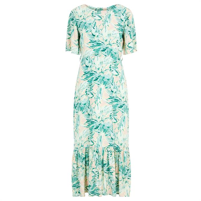 Y.A.S Nala Floral Frill Hem Maxi Dress